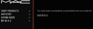 MAC Unsubscribe